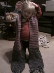 Ella modeling her Nana's scarf